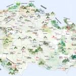 Карта Чехии