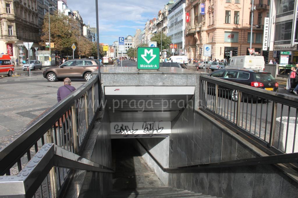Метро в Праге Мустек