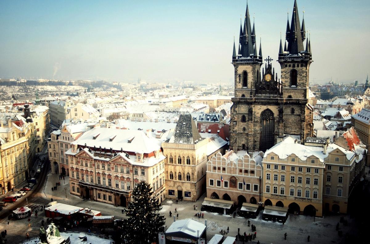 Картинки по запросу Прага зимой