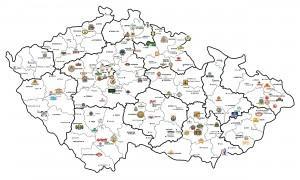 Пивная карта Чехии