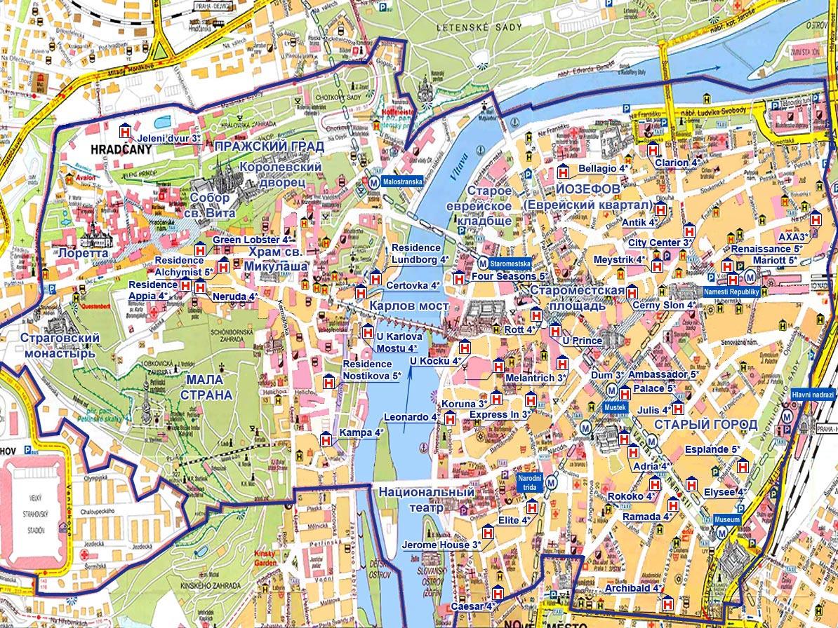 Приехав в Прагу, вы увидете, что все адреса имеют такой характер: Praha 1, Praha 2... Что же означают эти цифры.