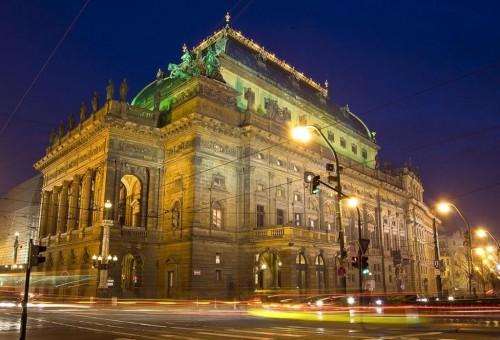 Национальный театр Праги - вечером