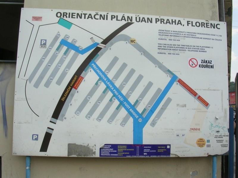 Схема автовокзала Флоренц