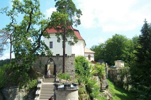 Замок Вальдштейн - лестница