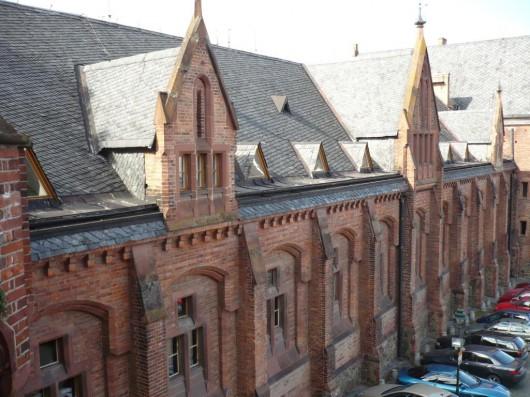 Замок Градец-над-Моравицы - крыша