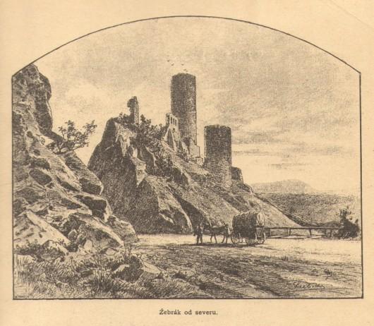 Замок Жебрак история
