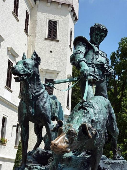 Замок Конопиште - статуя