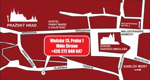 Музей КГБ в Праге - карта