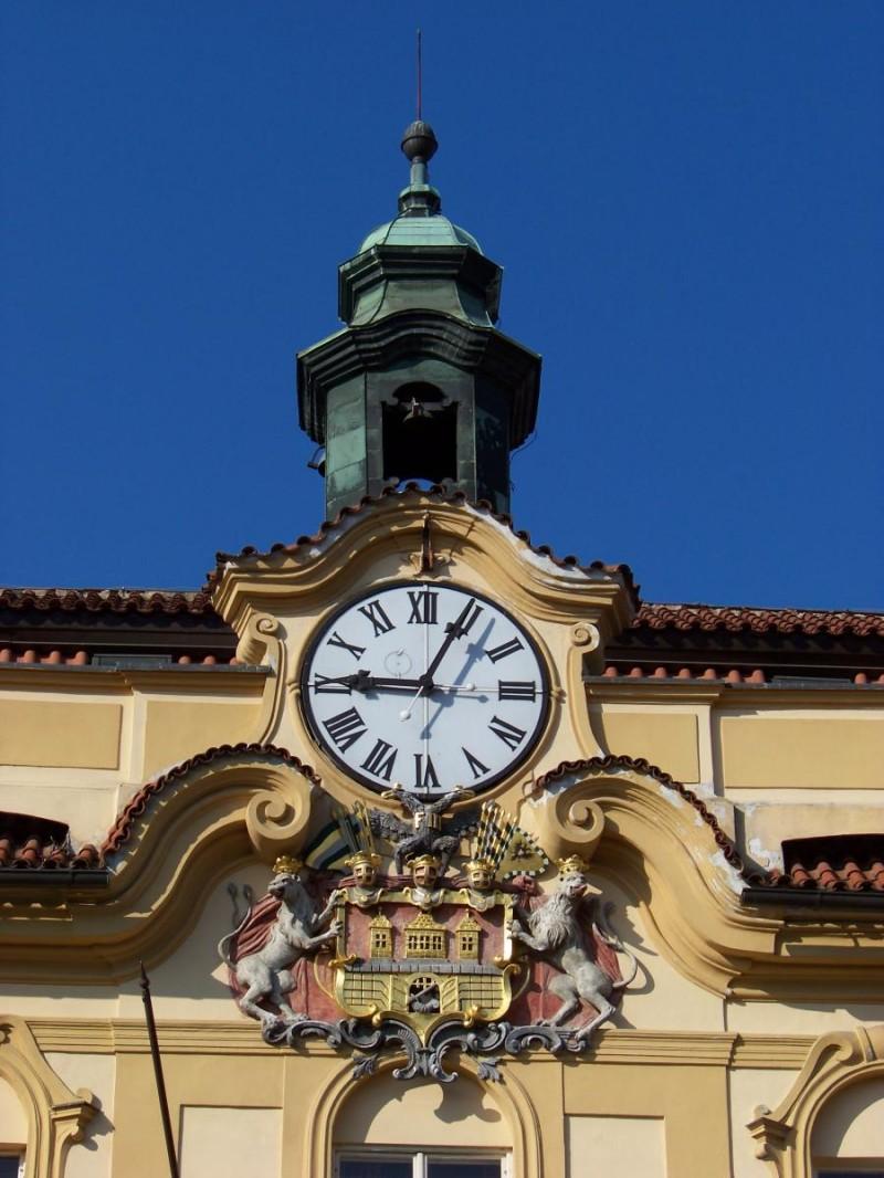 Либенский замок - часы