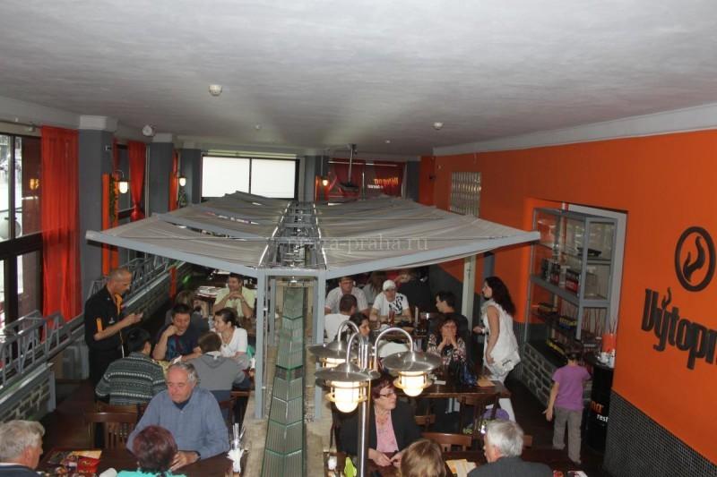 Пивная Веерное депо - Výtopna - вид сверху