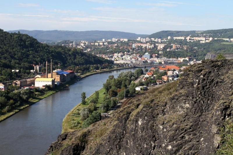 Замок Стршеков - вид вниз
