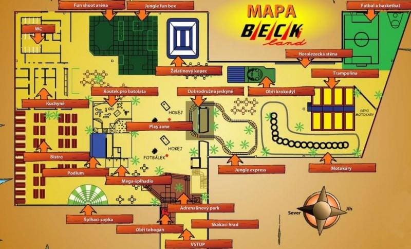 Парк развлечений Beckiland - карта