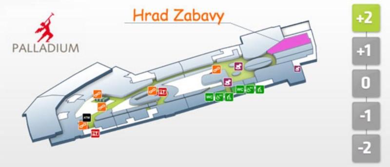 Hrad Zabavy - план