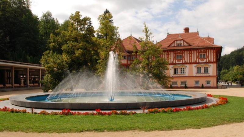 Лугачовице - фонтан