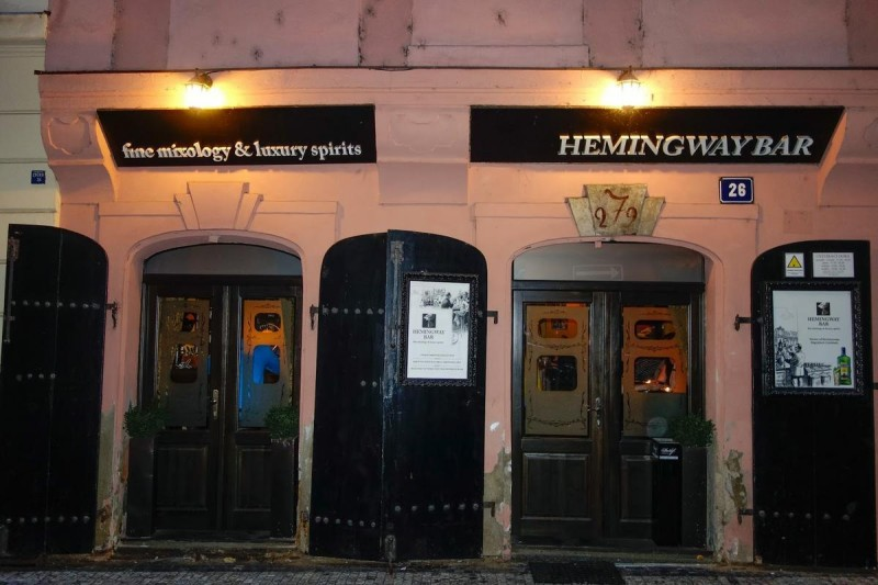 Бар Хемингуэя в Праге
