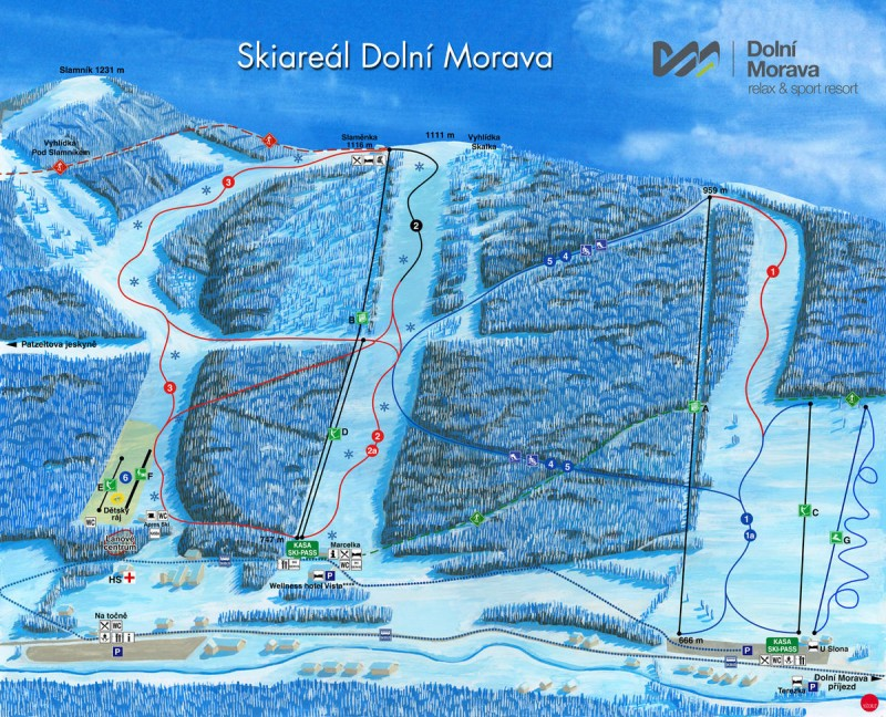 Долни Морава - карта катания