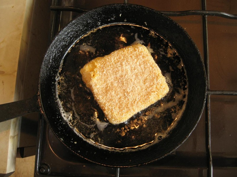 Рецепт жаренного сыра 2