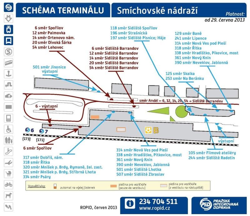 Смиховский вокзал - схема