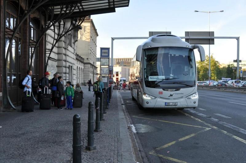 На автобусе из Нюрнберга в Прагу