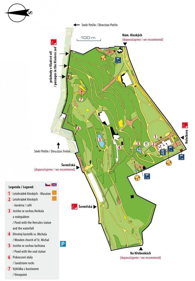 Парк Кинского - план