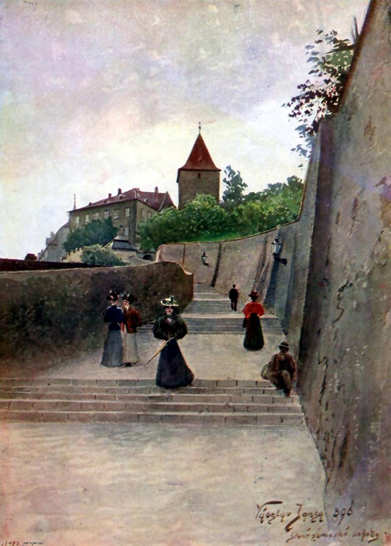 Старая замковая лестница 5