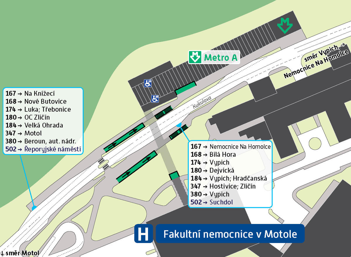 Станция метро Nemocnice Motol